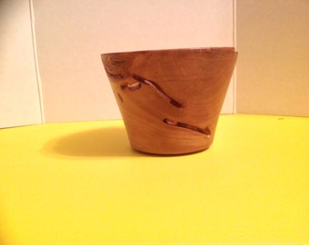 Handmade Natural edge bowl with worm holes