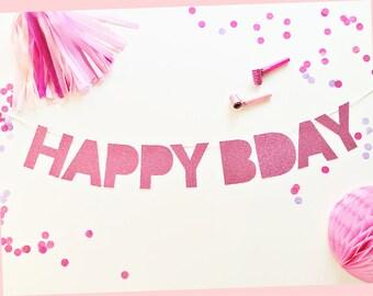 Birthday Banner   Birthday   Happy Bday Party Banner