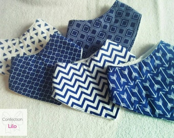 Bandana style bibs * Collection Navy *.
