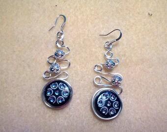 Fun spiral wire earrings