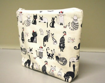 Pouch Cat Zippered Cosmetics Toiletries