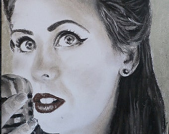custom charcoal and pastel portrait from photo