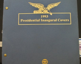 2 First day envelopes for Clinton inaguration in a clean binder