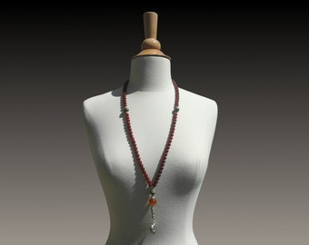 Rosary necklace amber