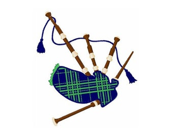 Scottish Bagpipes - Machine Embroidery Design