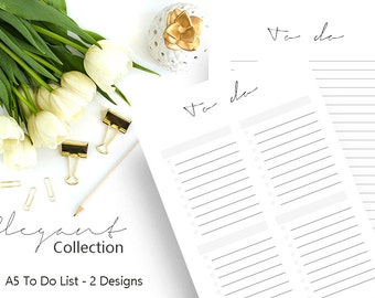 To Do List Printable, To Do Planner Inserts, To Do List Notepad, To Do List Notebook, Printable Planner Pages, A5 Planner Insert