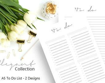 To Do List Printable, To Do Planner Inserts, To Do List Notepad, Printable Planner, A5 Planner Insert, Planner Agenda, Filofax, Kikki K