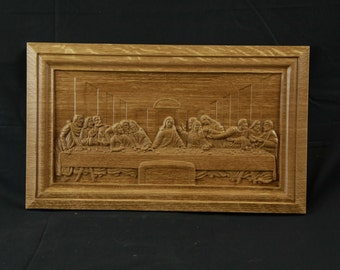 3D Wood Carved da Vinci Last Supper