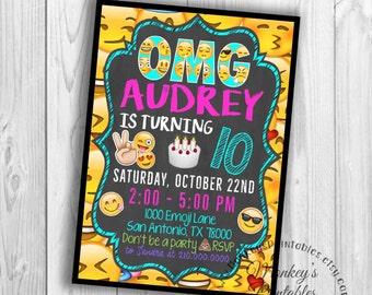 Emoji Birthday, Emoji Invitation, Emoji Text Invitation, Emoji Party