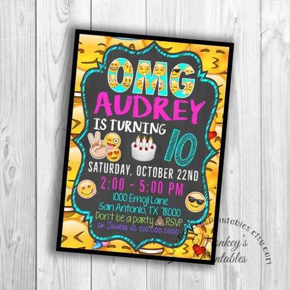 This Emoji Printable Birthday Party Invitation Will Be The Perfect Way To Announce Upcoming Celebration