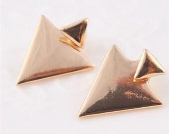 Triangle ear cuff earring funky