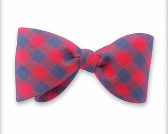 Vintage check Bow tie. Man Bow tie