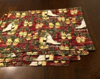 Rustic Ice Skates Placemat