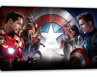 MARVEL comic superhero Captain America ironman canvas wall art