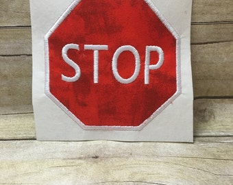 Stop Sign Applique, Stop Sign EMbroidery Design Applique, Stop Sign Traffic sign