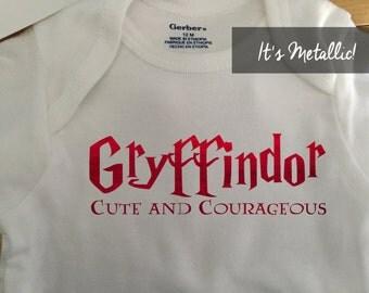 Gryffindor Onesie - Gryffindor Baby Clothes - Gryffindor nursery -  Harry potter onesie - Harry potter baby - Harry potter baby shower