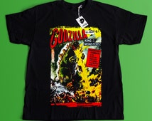 Godzilla King of the Monsters Movie T-shirt - Horror Fan T-shirt - Vintage Horror Movie And Cult T-shirt - Gojira tokusatsu