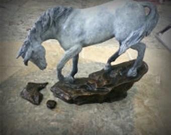 WildArabian Bronze Horse Sculpture