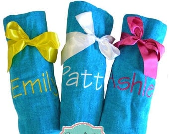 Beach Towels Custom Embroidered for Him or Her! Personalized Beach Towels, Monogrammed Beach Towels, Embroidered Towels, Gift Ideas