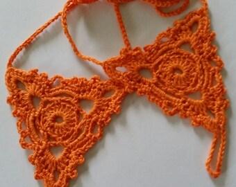 Ladies Crocheted Barefoot Sandals