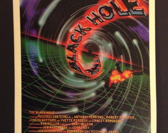 "The Black Hole Movie Poster 12""x18"" // Science Fiction // Disney // Mad Scientist // 1979 // Psychedelic"