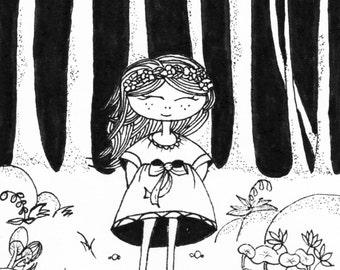 Mona's forest adventure illustration