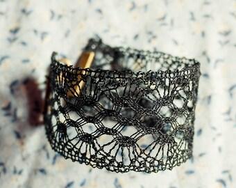 bobbin lace bracelet