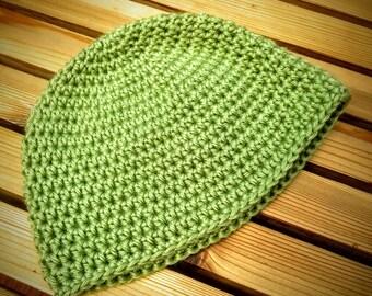 Crochet Baby Hat - Green - 3-6 months