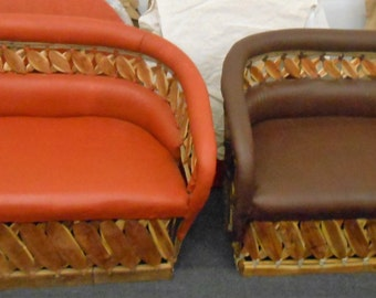 Love Seat, Estaca Collection, Equipales, Rustic Mexican Furniture, Patio Furniture