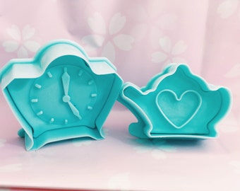 Tea Time Tea Party Cookie Cutter Plunger Style Set