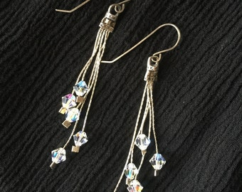 Swarovski Crystal Dangle Earrings | Sterling Silver Drop Earrings | Crystal Jewelry | Gift for Her | Bridesmaids Gift | Wedding Jewelry