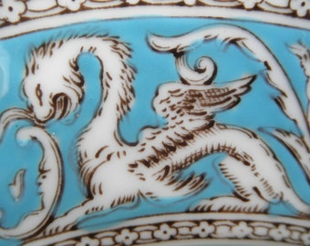 "Vintage Wedgewood Dragon Themed  Bone China Plate  8 1/4"" Dia Home decor  Collectible"