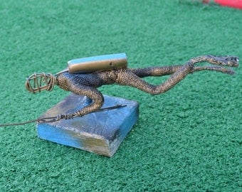 Diver- Wire Art