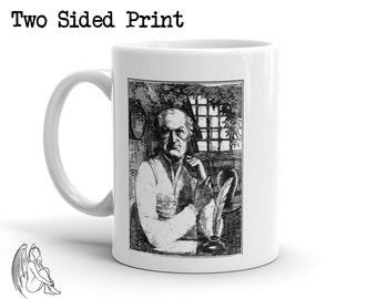 Marquis de Sade Coffee Mug, Philosophy, Philosopher, Masoch, Nietzsche, Marat, Bataille, Pasolini, Cute Gift