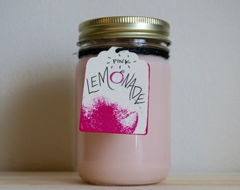 Pink Lemonade Scented 12oz Soy Candle