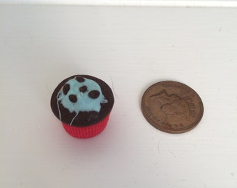 Polymer clay chocolate cupcake