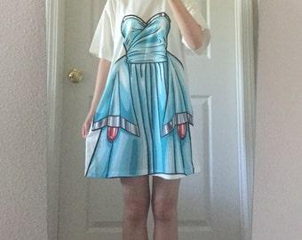 Flanking dress cartoon style