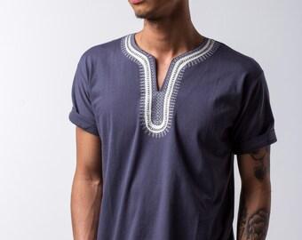 BINOAR-silver shirt blue