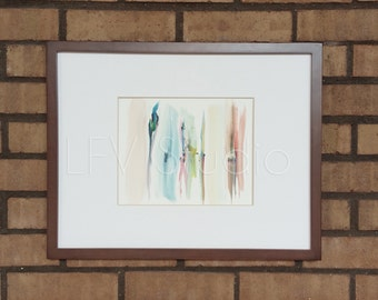 Original Abstract Watercolor & Acrylic Painting Multi-color Series #002 - LFV Studio