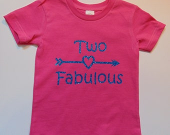 Two Fabulous 2nd Birthday Shirt