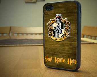 Harry Potter Hufflepuff House Woodgrain Case for iPhone 4/4s, 5/5s, 6/6s, 6/6s Plus, SE and Samsung S3, S4 and S7