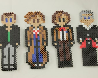 Doctor Who perler bead - The New Doctors