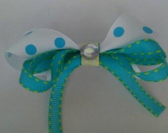 Jeweled triple bow