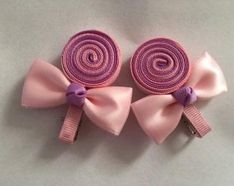 New Handmade Lollipop Hair Clips
