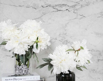 Marble Pattern removable Wallpaper / Self Adhesive / Regular Marble Wallpaper / White Marble Removable Wall Mural