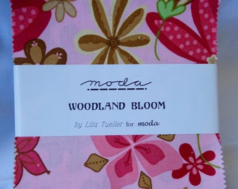 Moda Woodland Bloom by Lila Tueller Charm Pack - 38 squares