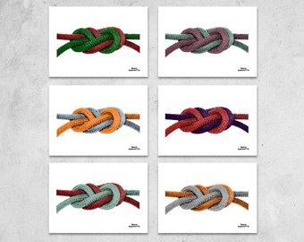 Double Figure Eight Knot Print