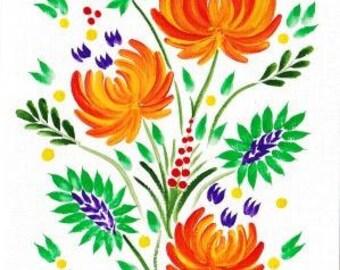 Ukrainian Folk card
