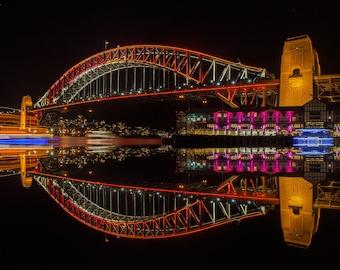 Vivid Sydney. Harbour Bridge