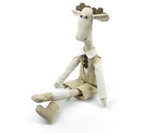 Elk - Plush doll by Times Hemp Company. 100% Organic Hemp. Handmade.
